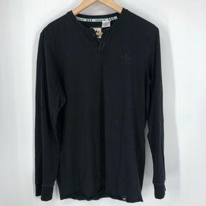 Adidas black long sleeve sample skateboard shirt M